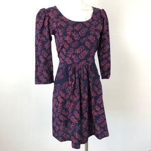 Mata Traders | Fit and Flare Batik Dress Blue